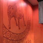 Wrap chic signage wall mural custom wallpaper