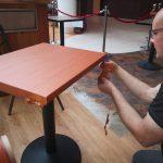Table vinyl wrap