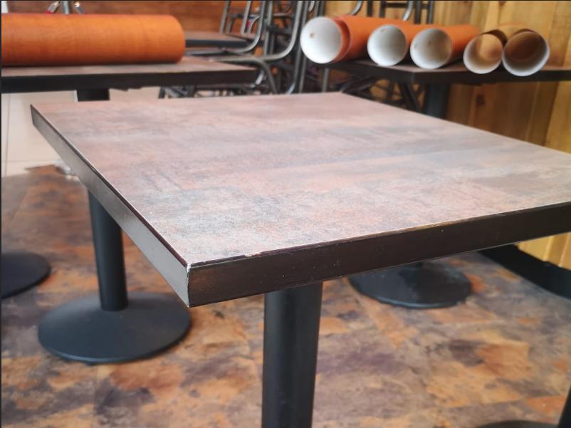 Before table vinyl wrap