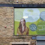 medical signage shop window contravision