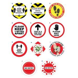 floor graphics social distancing floor stickers
