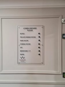 acrylic directional sign